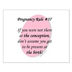 Delivery Room Rule Small Poster