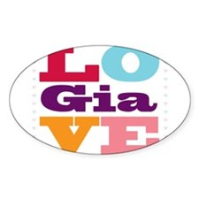I Love Gia Decal
