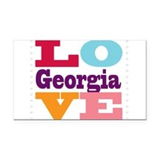 I Love Georgia Rectangle Car Magnet