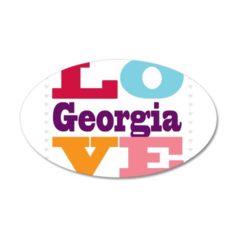 I Love Georgia 20x12 Oval Wall Decal