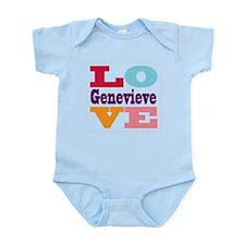 I Love Genevieve Infant Bodysuit