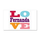 I Love Fernanda Car Magnet 20 x 12