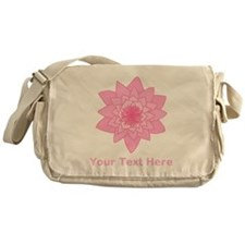 Pink Water Lily and Text. Messenger Bag