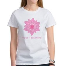 Pink Water Lily and Text. Tee