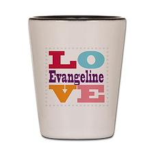 I Love Evangeline Shot Glass