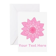 Pink Water Lily and Text. Greeting Cards (Pk of 20