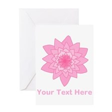 Pink Water Lily and Text. Greeting Card