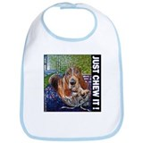 Basset Hound JUST CHEW IT! Bib