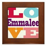 I Love Emmalee Framed Tile