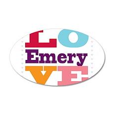 I Love Emery 35x21 Oval Wall Decal