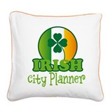 Irish City Planner St Patricks Square Canvas Pillo