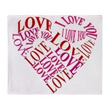 Love in my Heart Throw Blanket