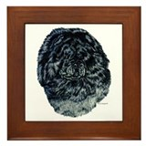 Black Chow Chow Framed Tile