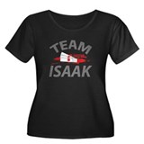 Team Isaak Women's Plus Size Scoop Neck Dark T-Shi