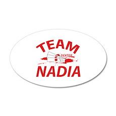 Team Nadia 38.5 x 24.5 Oval Wall Peel