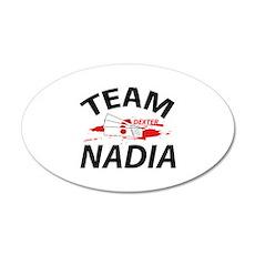 Team Nadia 22x14 Oval Wall Peel