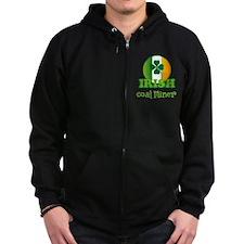 Irish Coal Miner St Patricks Zip Hoodie