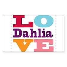 I Love Dahlia Decal