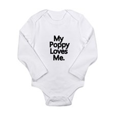 My Poppy Loves Me Long Sleeve Infant Bodysuit