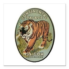 "Continental Palace Saigon Square Car Magnet 3"" x 3"