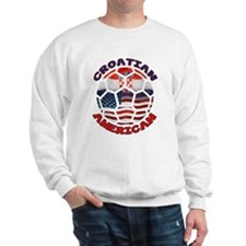 Croatian American Soccer Fan Sweatshirt