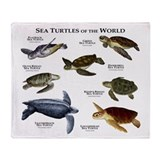 Sea Turtles of the World Throw Blanket