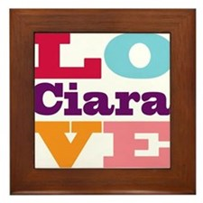 I Love Ciara Framed Tile
