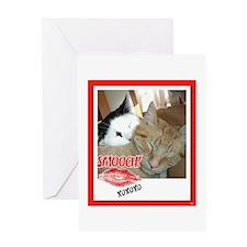Valentine Orange Tabby Cat Greeting Card