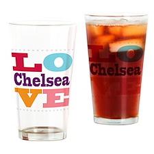 I Love Chelsea Drinking Glass
