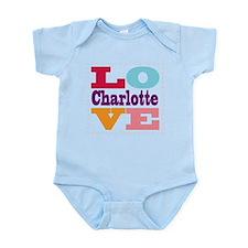 I Love Charlotte Infant Bodysuit