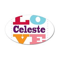 I Love Celeste 20x12 Oval Wall Decal