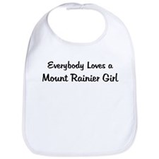 Mount Rainier Girl Bib