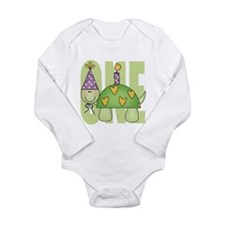 Baby First Birthday Turtle Body Suit