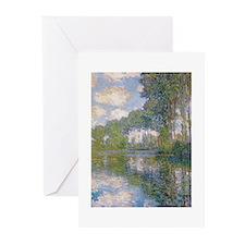 Claude Monet - Poplars at the Epte c1900 Greeting