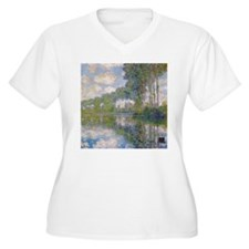 Claude Monet - Poplars at the Epte c1900 T-Shirt