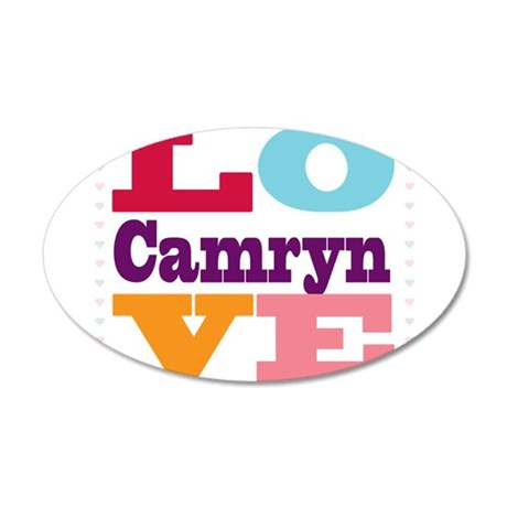 I Love Camryn 35x21 Oval Wall Decal