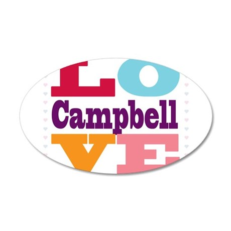 I Love Campbell 20x12 Oval Wall Decal