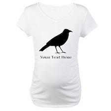 Crow and Custom Black Text. Shirt