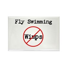 No Wimps Butterfly Rectangle Magnet