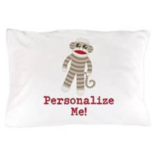 Classic Sock Monkey Pillow Case