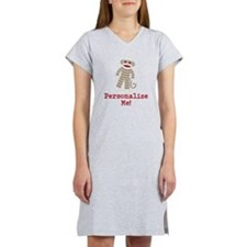 Classic Sock Monkey Women's Nightshirt