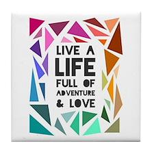 adventure&love Tile Coaster