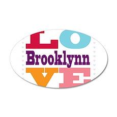 I Love Brooklynn 35x21 Oval Wall Decal
