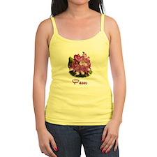 Pam: Purple Flower Jr.Spaghetti Strap