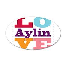 I Love Aylin 20x12 Oval Wall Decal