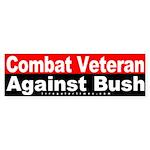 Combat Veteran Against Bush Sticker
