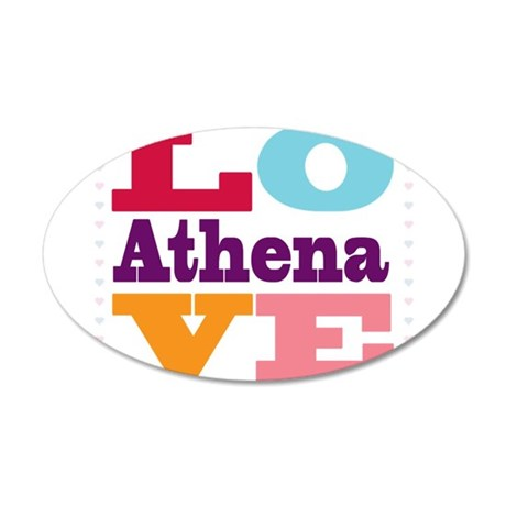 I Love Athena 35x21 Oval Wall Decal