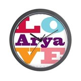 I Love Arya Wall Clock