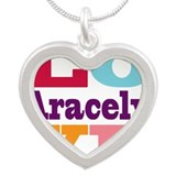 I Love Aracely Silver Heart Necklace