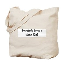 Wren Girl Tote Bag
